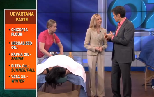 Dr Oz discusses ancient Ayurvedic approaches to weight loss with The Raj expert Candace Badgett (3/5)