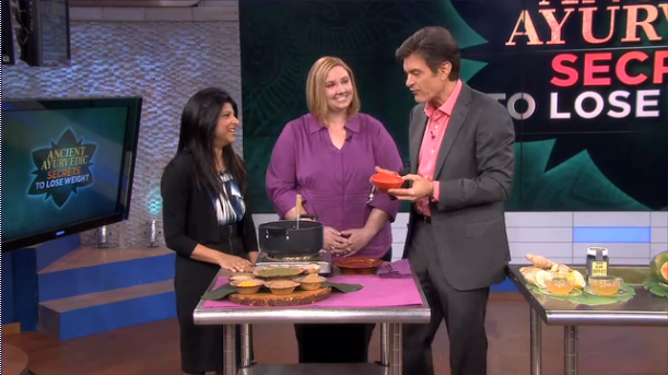 Dr Oz discusses ancient Ayurvedic approaches to weight loss with The Raj expert Candace Badgett (1/5)