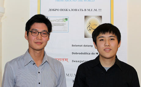 MUM students Khongor Enkhbold and Khasan Bold were among top ten finalistsin a National Collegiate Hackathon Competition who won a trip to Silicon Valley