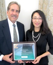 Ye Shi (Linlin) with MUM Professor Andrew Bargerstock at the 2013 Lean Accounting Summit