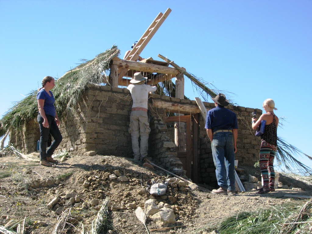 Mum students build adobe house from scratch in texas desert - How to build an adobe house ...
