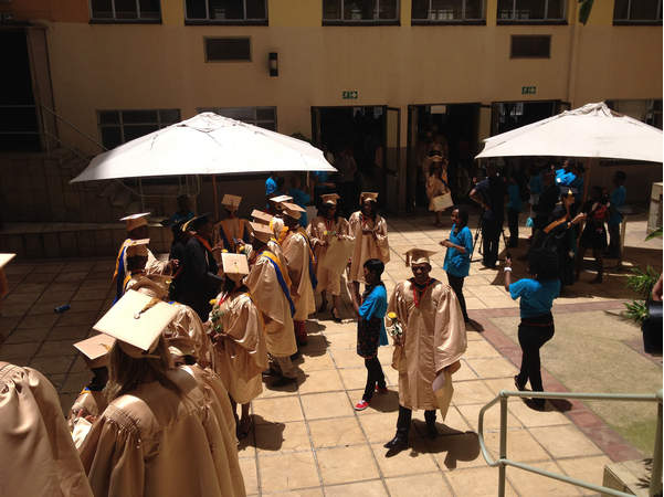 Pearson was in South Africa on official business to give the commencement address at Maharishi Institute in Johannesburg. The institute is a sister organization of M.U.M. and the students who graduated from it received M.U.M. degrees. (Courtesy of: CRAIG PEARSON)