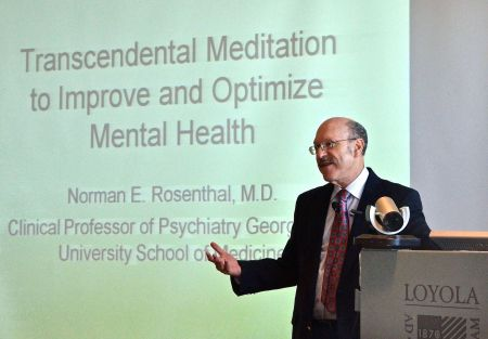 Dr. Norman Rosenthal speaks on TM at Stritch