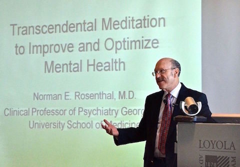Dr. Norman Rosenthal speaks on TM at Stritch small
