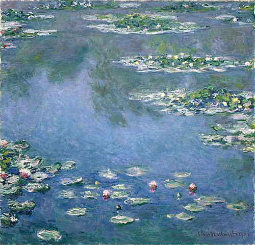 "Claude Monet ""Water Lilies"" (1906) Art Institute of Chicago (photo by Ryerson)"