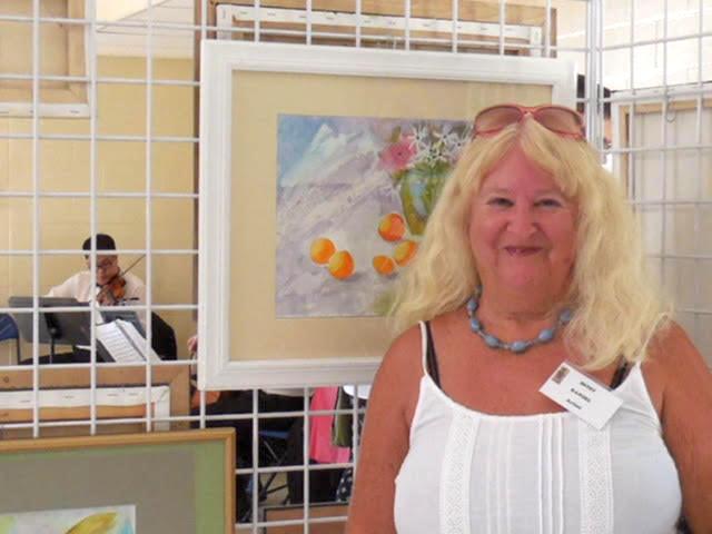 Betsy Randel at her artshow