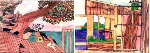 Galiano Island Art Cards by Betsy Randel composite image