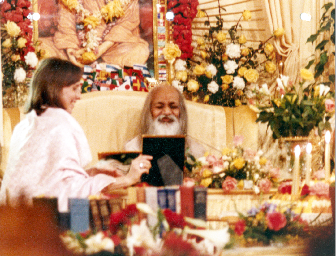 Sali with Maharishi