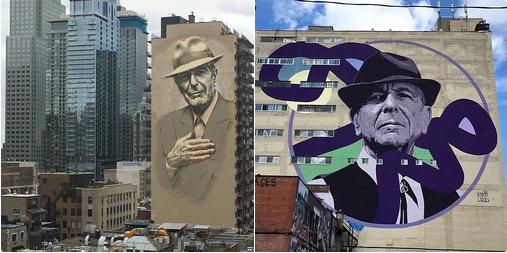 Montreal murals of Leonard Cohen