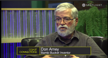 Inventor Don Arney describes Bambi Bucket uses